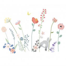 Mimi'lou Mimilou muursticker veldbloemen