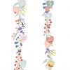 Mimilou muursticker kinderkamer meetlat bloemen Liv