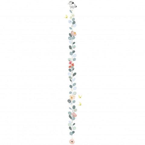 Mimilou muursticker meetlat bloemen Nils