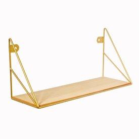 Sass & Belle Sass & Belle wandplankje Loft goud