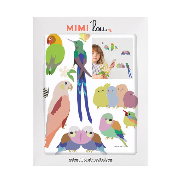 Mimi'lou Mimilou mini muursticker kinderkamer vogels With the Birds
