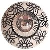 La Finesse kastknopje porselein creme met zwarte bloemen