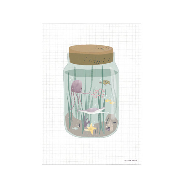 Little Dutch Little Dutch kinderposter zee Ocean Jar