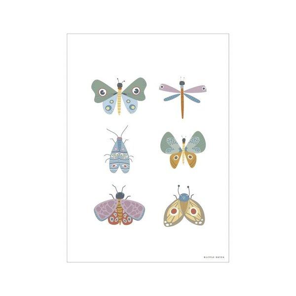 Little Dutch Little Dutch kinderposter vlinders Butterfly