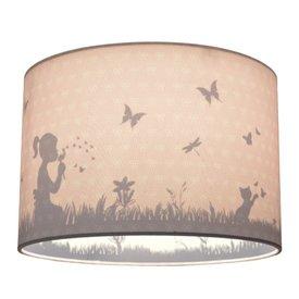Land of Kids Land of Kids kinderlamp silhouette Dandelion roze