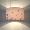 Land of Kids hanglamp kinderkamer silhouette Dandelion roze