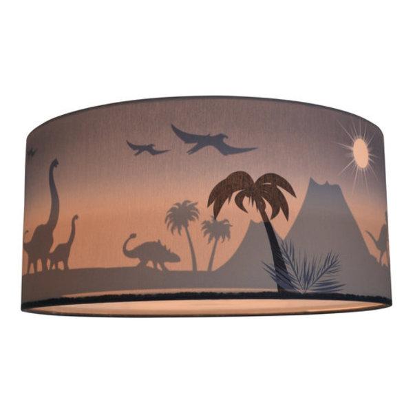 Land of Kids Land of Kids plafond lamp silhouette dino's blauw