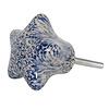 Clayre & Eef deurknopje ster stippen blauw