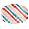 Rice melamine bord ovaal Candy Stripes print