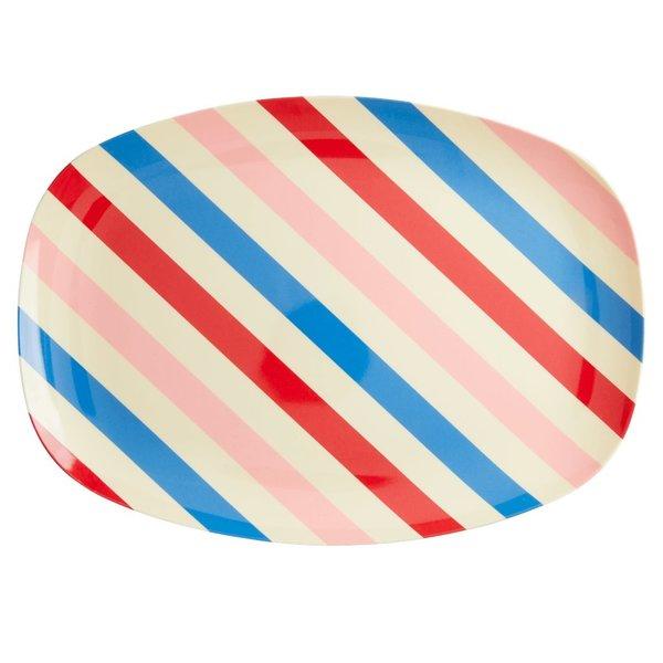 rice Denmark Rice melamine bord ovaal Candy Stripes print