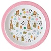Rice melamine kinderbord Party animal print roze