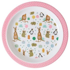 rice Denmark Rice melamine kinderbord Party Animal print roze