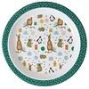 Rice melamine kinderbord Party animal print groen
