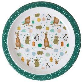 rice Denmark Rice melamine kinderbord Party Animal print groen