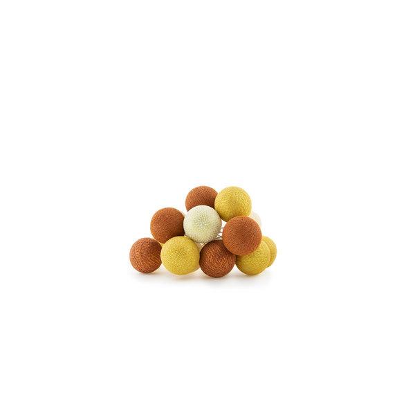 Cotton Ball Lights Cotton ball lights lichtslinger Cosy Copper USB met stekker