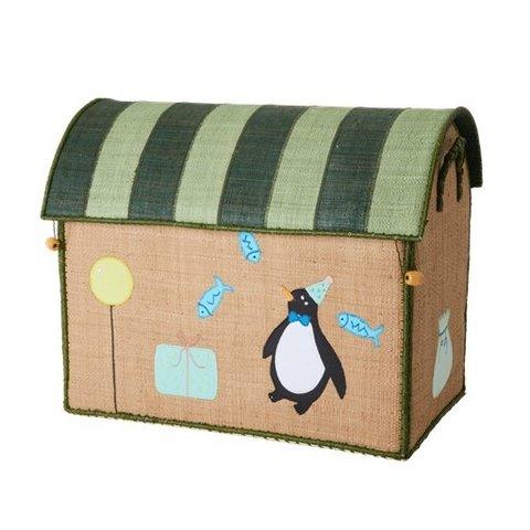 Rice speelgoedmand Birthday Animals pinguïn