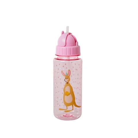 Rice drinkfles kangoeroe roze