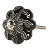 Deurknopje bloem zwart bruin