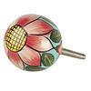 Deurknop bloem met groene blaadjes