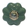 Clayre & Eef deurknopje bloem aqua