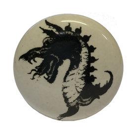 La Finesse La Finesse kastknopje wit met zwarte draak
