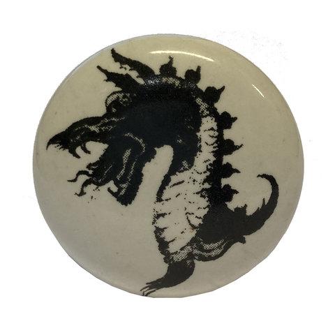 La Finesse kastknopje wit met zwarte draak