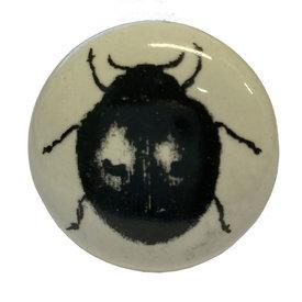 La Finesse La Finesse kastknopje wit met zwarte kever