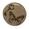 La Finesse kastknopje vlinder en sleutel roze