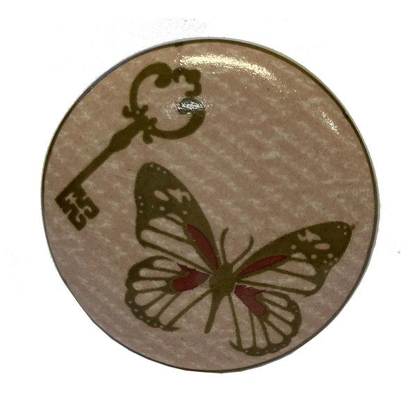 La Finesse La Finesse kastknopje vlinder en sleutel roze