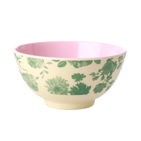Rice melamine schaal bloemen Green Rose print