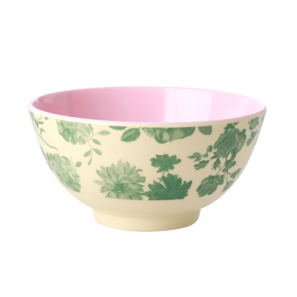 rice Denmark Rice melamine kom bloemen Green Rose print