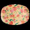 Rice melamine bord perziken peach print