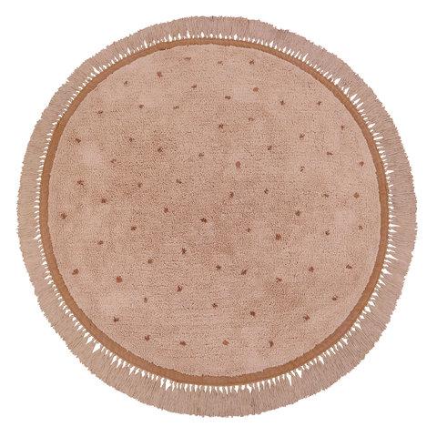 Tapis Petit kindervloerkleed Juul Dots roze