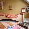 Tapis Petit vloerkleed kinderkamer Tim roze/oker geel