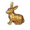 Sass & Belle deurknopje konijn goud