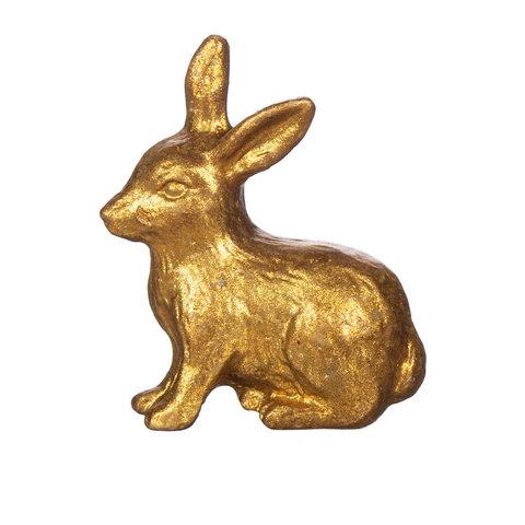 Deurknop konijn goud