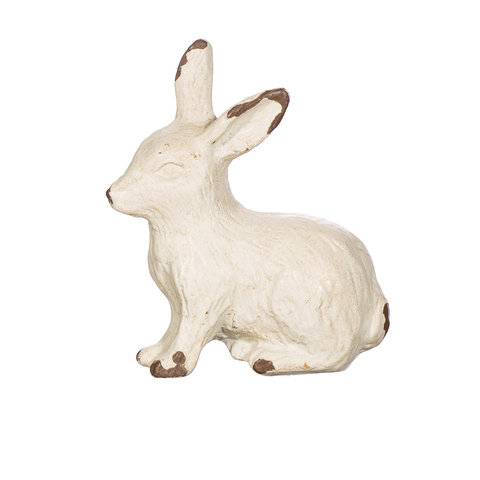 Deurknop konijn antiek wit