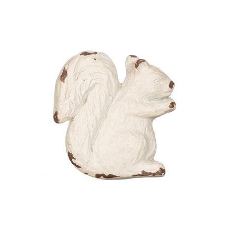 Deurknop eekhoorn antiek wit