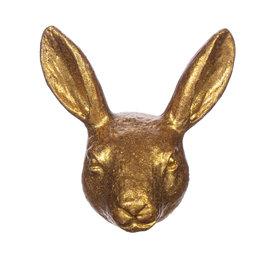 Sass & Belle Deurknop konijnenhoofd goud