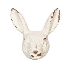 Sass & Belle Deurknop konijnenhoofd antiek wit