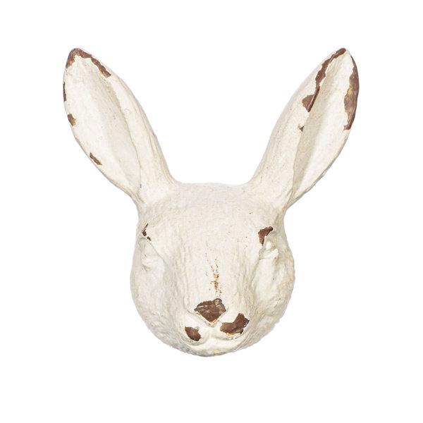 Sass & Belle Sass & Belle deurknopje konijnenhoofd antiek wit