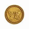 Sass & Belle deurknopje vlinder goud rond