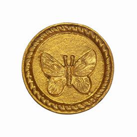 Sass & Belle Kastknopje vlinder goud rond