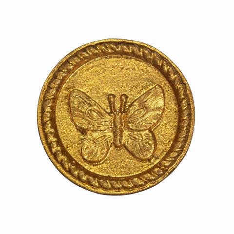 Kastknopje vlinder goud rond