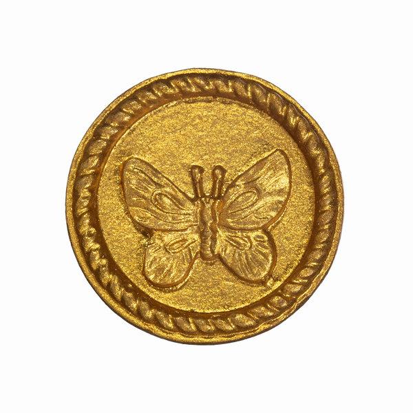 Sass & Belle Sass & Belle deurknopje vlinder goud rond