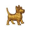 Sass & Belle deurknopje hond terriër goud