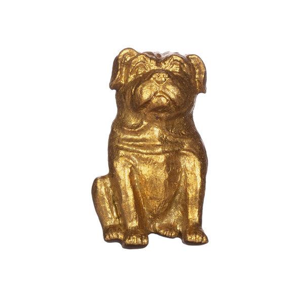Sass & Belle Sass & Belle deurknopje hond mops goud