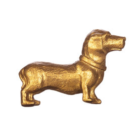 Sass & Belle Kastknopje teckel goud