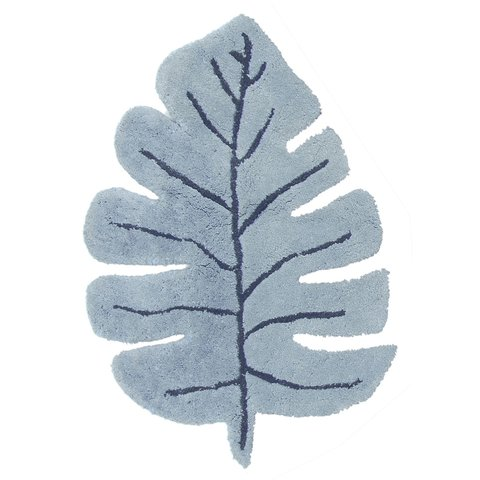Lilipinso kindervloerkleed blad monstera blauw