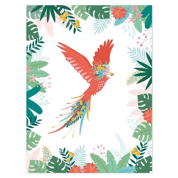 Lilipinso Lilipinso kinderposter papegaai vliegende papegaai